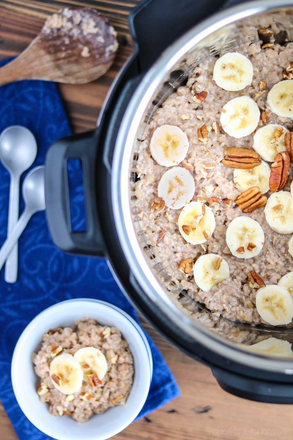 I've made oatmeal in my Instant Pot the last two mornings in a row! It's so easy! As I was learning how to use an Instant Pot, this was one of the first types of recipes I tackled. Also, great for steel cut oats that take so much longer on the stovetop!