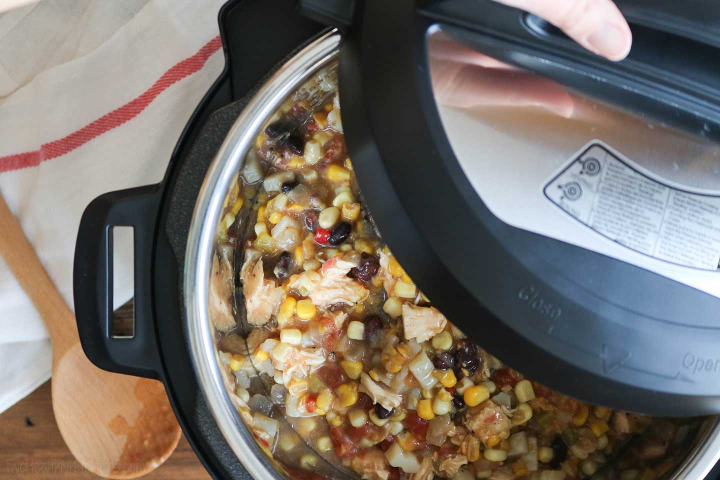 Mmmmmmm … Chicken Corn Chowder! Instant Pots are terrific at making soups like this, and also chilis and stews!