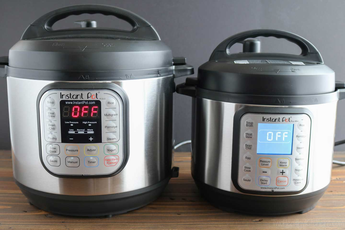The Instant Pot Duo vs Duo Plus: there are differences in the number of functions and in the user interface screens.