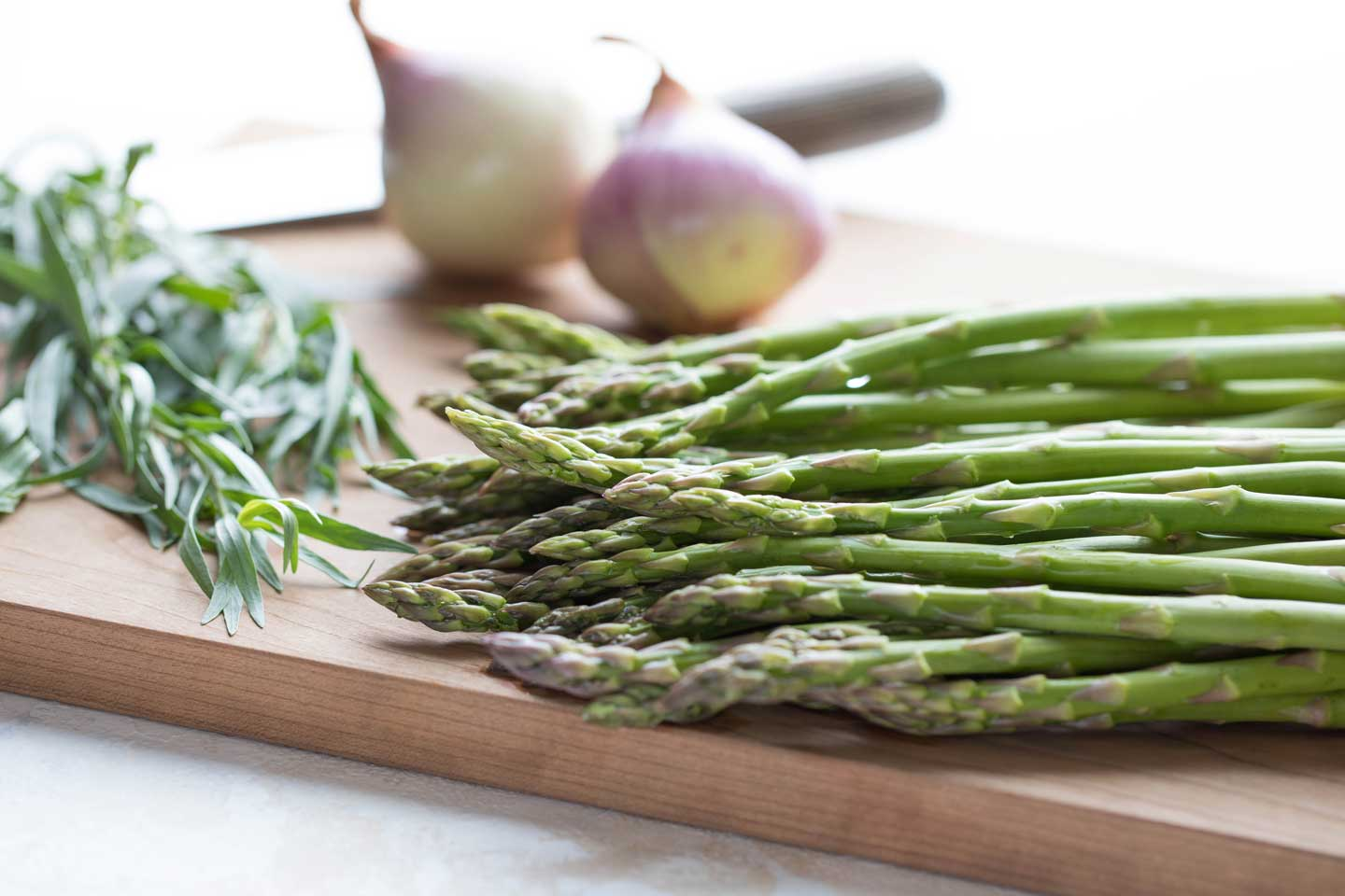 Besides whole wheat pasta, this recipe gets huge flavor boosts from shallots, lovely spring asparagus, and just a little hit of fresh tarragon. So much fresh, vibrant flavor packed into one pan!