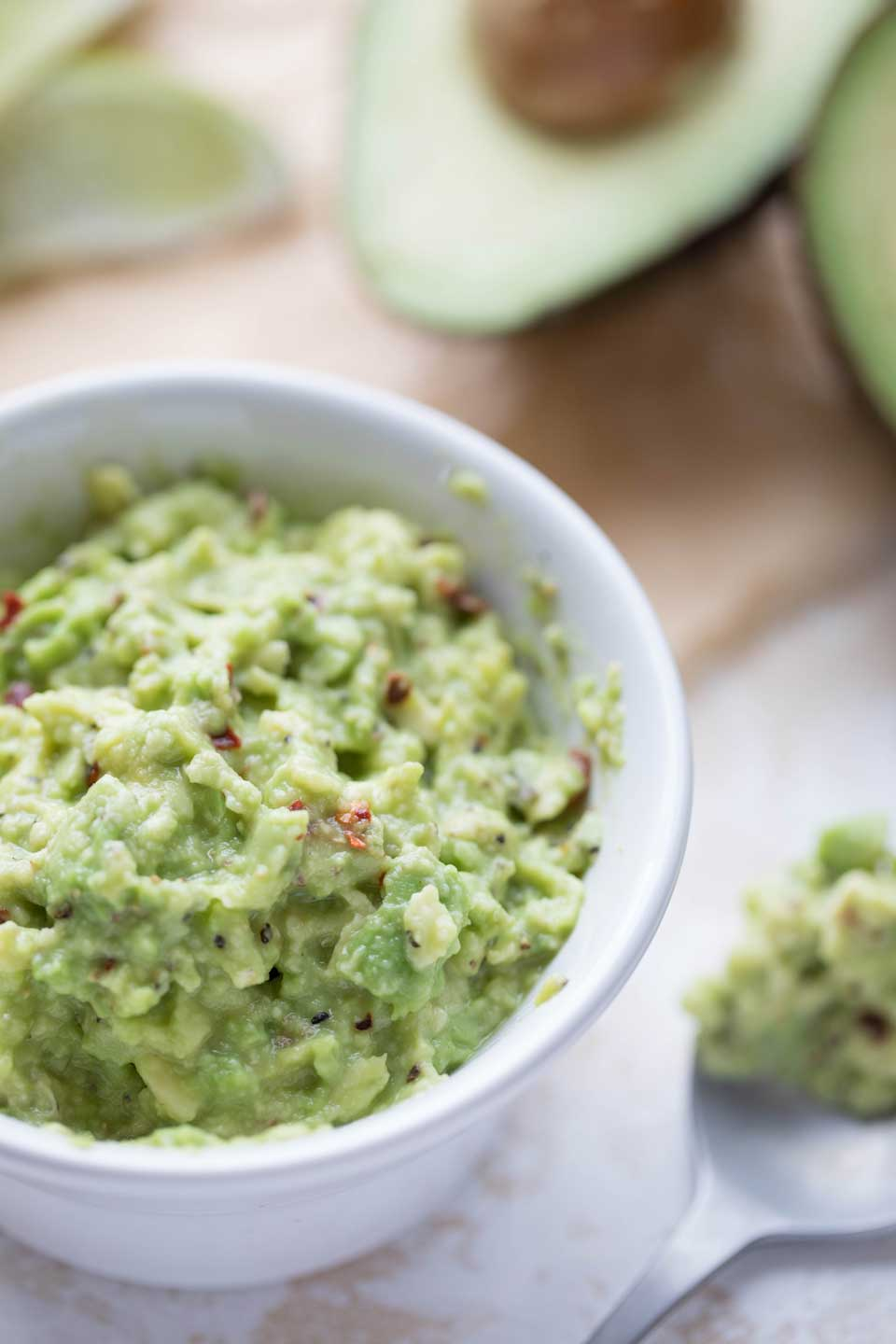 "The ""Smashed Avocado"" spread for these chicken tacos is basically a super-easy guacamole. But don't be deceived – although it's really quick and easy, it packs big, bold flavors, too!"