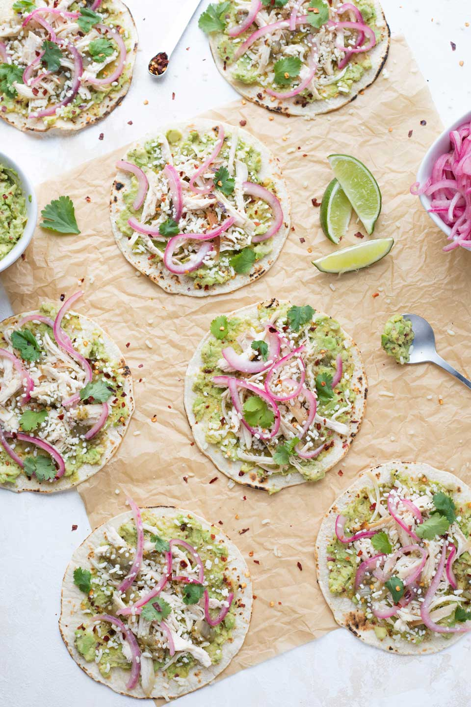 Your Taco Tuesday will never be the same! This super-easy Rotisserie Chicken Taco recipe has big, bold flavors and can be totally prepped ahead!