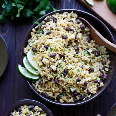 5-Minute Easy Rice and Beans