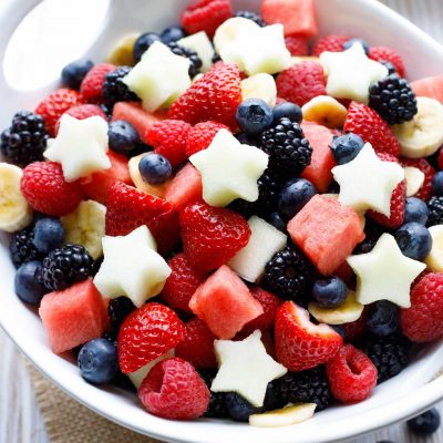 5 Showstopper Red, White and Blue Fruit Salads