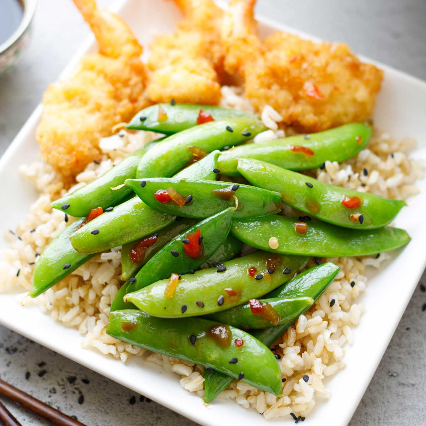 5-Minute Asian Sugar Snap Peas recipe