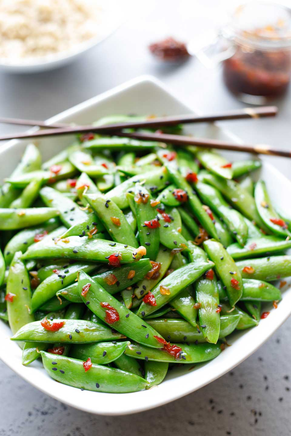 5 minute asian sugar snap peas two healthy kitchens