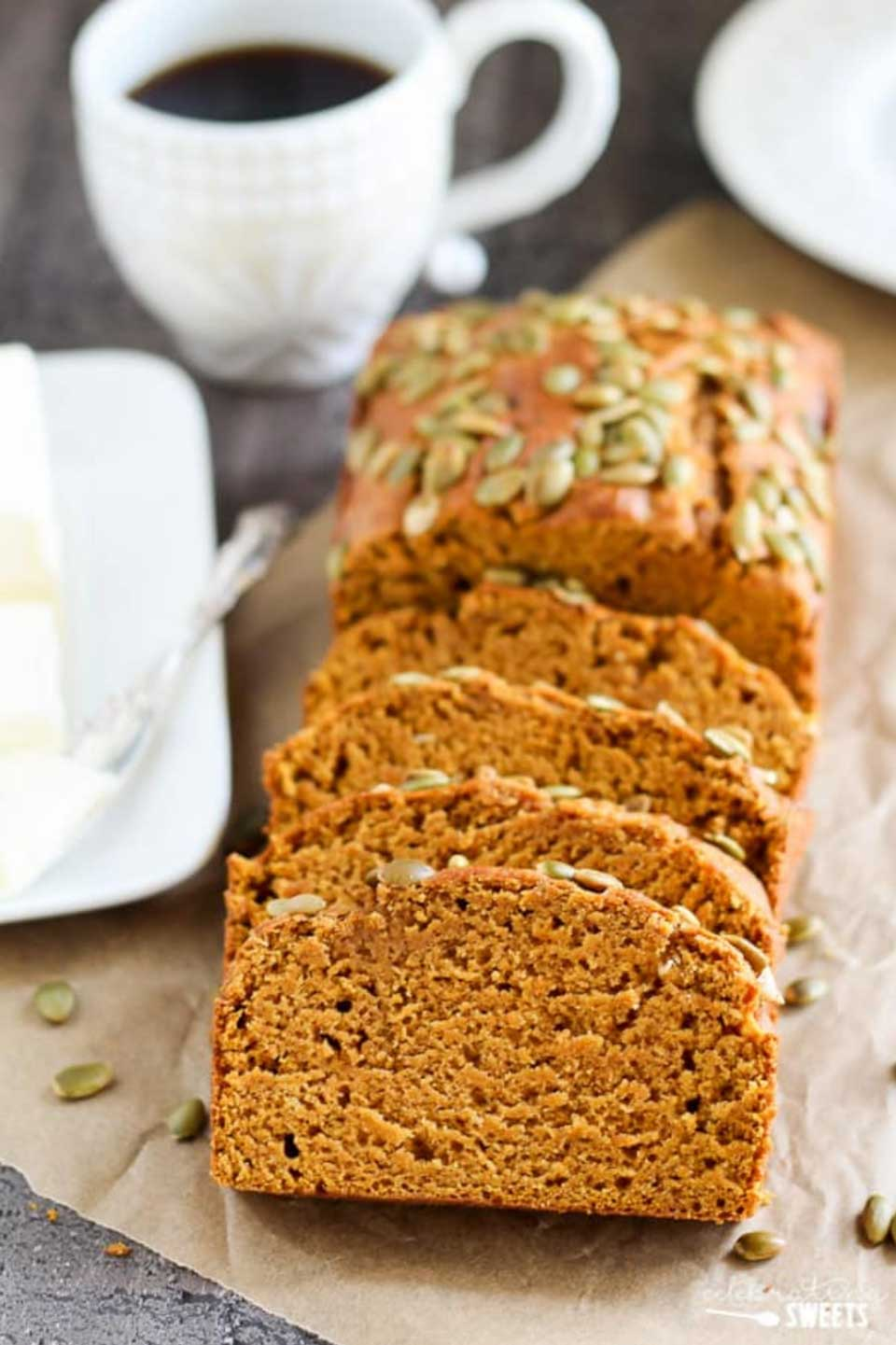 "Healthier but so decadently delicious! Creative pumpkin bread recipes, from gluten free pumpkin bread to whole wheat, paleo to sugar free! Whatever ""healthy"" means to you, we're sharing 15 of the very best pumpkin breads we could find! Bake one up today, and your pumpkin spice latte will never be lonely again! 