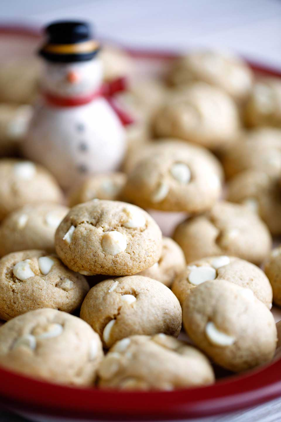 Peppermint White Chocolate Chickpea Cookies