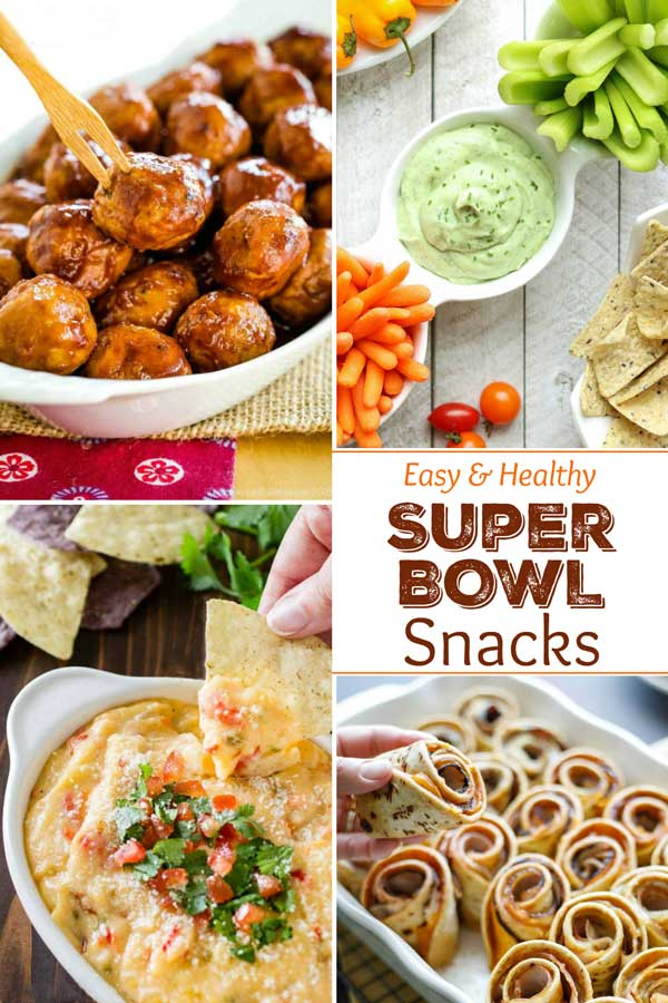 27 EASY recipes (with lots of make-aheads)! From 5-minute dips to shareable platters … and from finger foods to a special idea for the kids! Our collection of Easy, Healthy Super Bowl Snacks truly has it all! Plus, they're all deliciously better for you, too! Lots of touchdown-worthy recipes for the ultimate Super Bowl party – you'll definitely have your whole crowd cheering! | game day food | appetizer recipes | appetizers for party easy | #superbowl #superbowlparty | www.twohealthykitchens.com