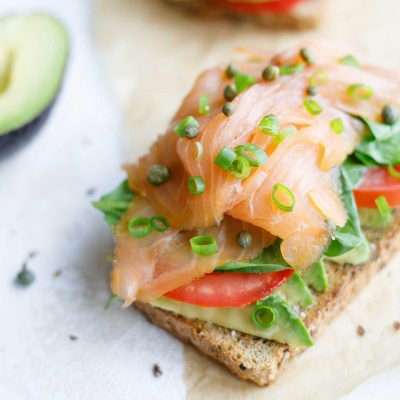 5-Minute Healthy Avocado Toast with Smoked Salmon