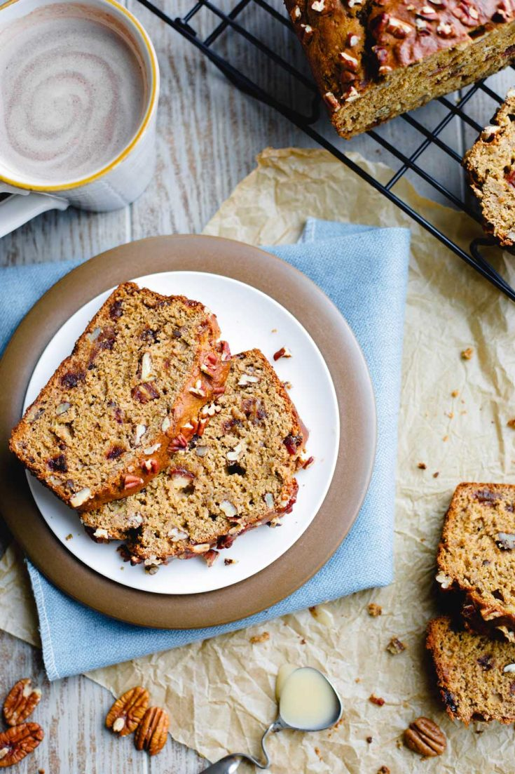 #10 Healthy Whole Wheat Banana Bread with Pecans and Dates
