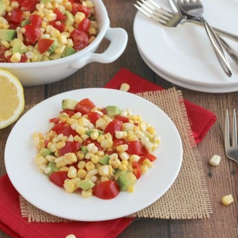 No-Cook Fresh Corn, Tomato and Avocado Salad
