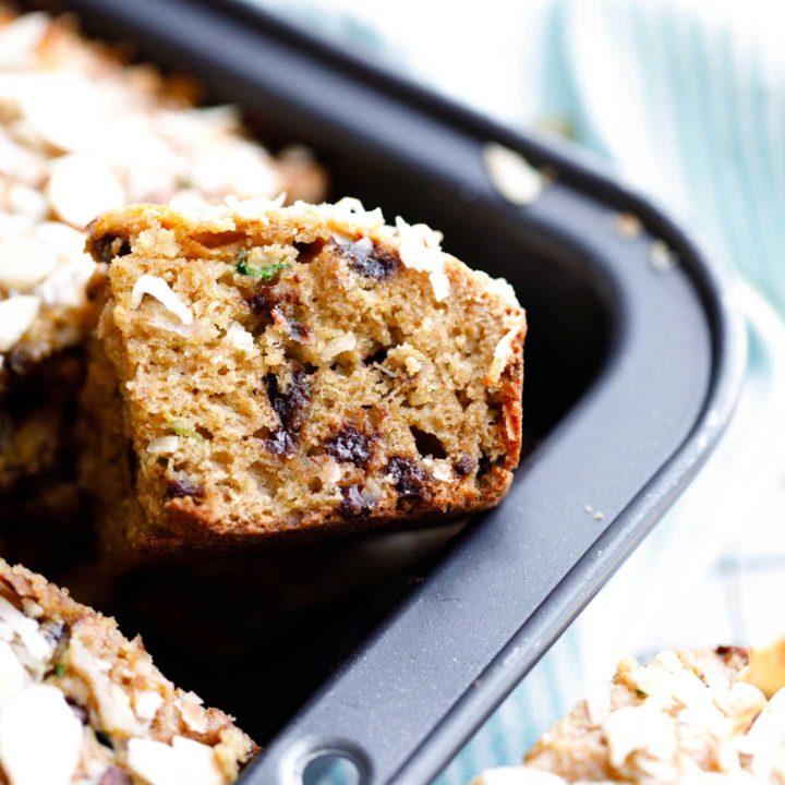 Almond Joy Zucchini Cake