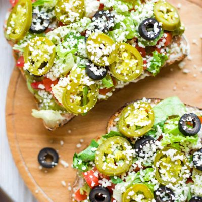 """7-Layer Dip"" Mexican Avocado Toast"