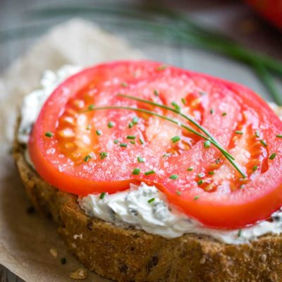 The Best Open-Faced Tomato Sandwich