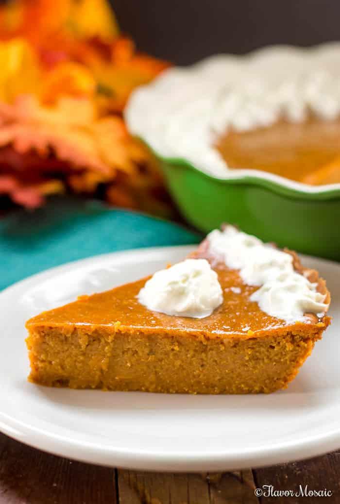 Crustless Pumpkin Pie (A Lighter Pumpkin Pie)