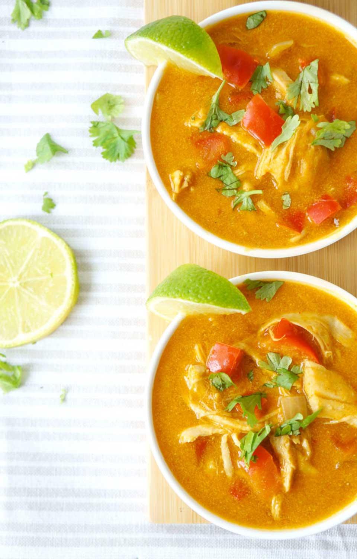 Curried Pumpkin Chicken Soup