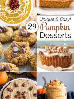 29 Unique and Easy Pumpkin Desserts