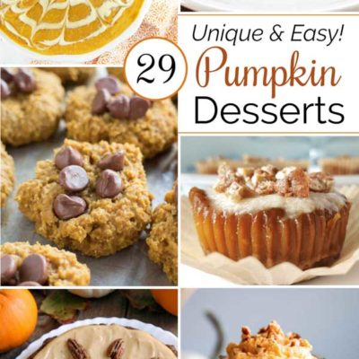29 Unique and Easy Pumpkin Desserts
