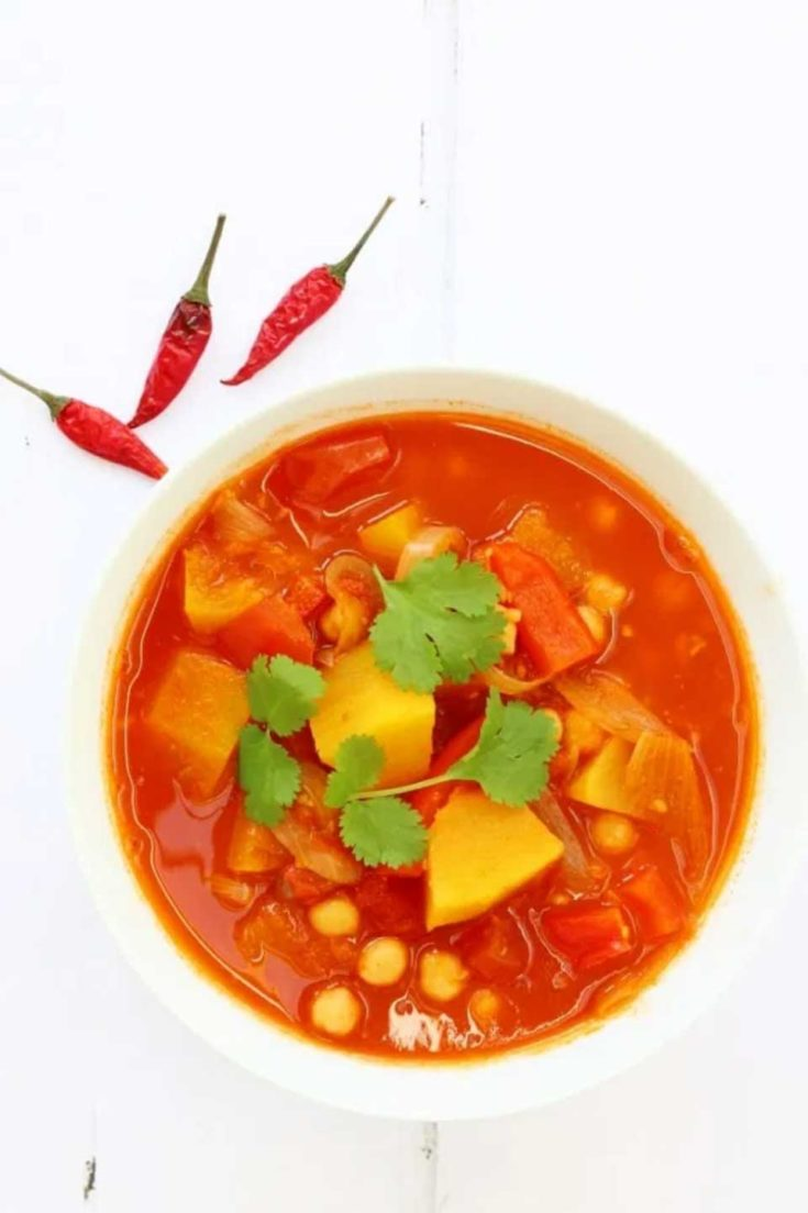 Pumpkin Stew with Chickpeas and Moroccan Spices