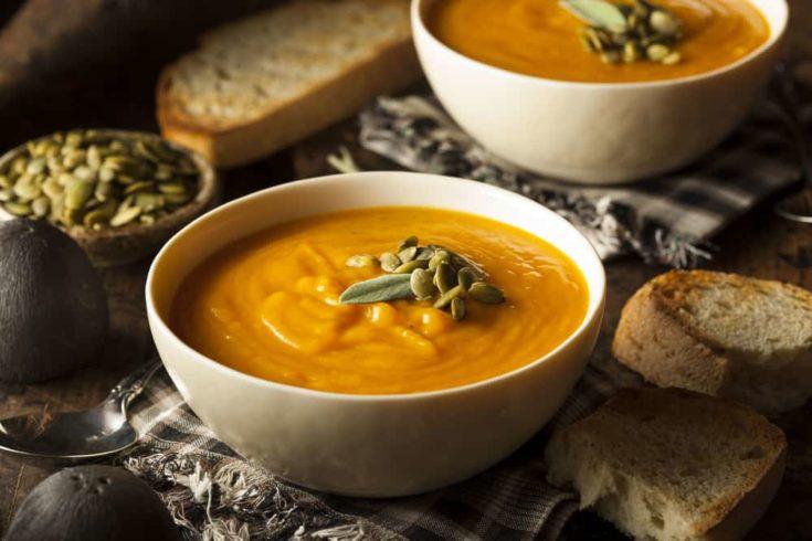 Savory Pumpkin Sweet Potato Soup