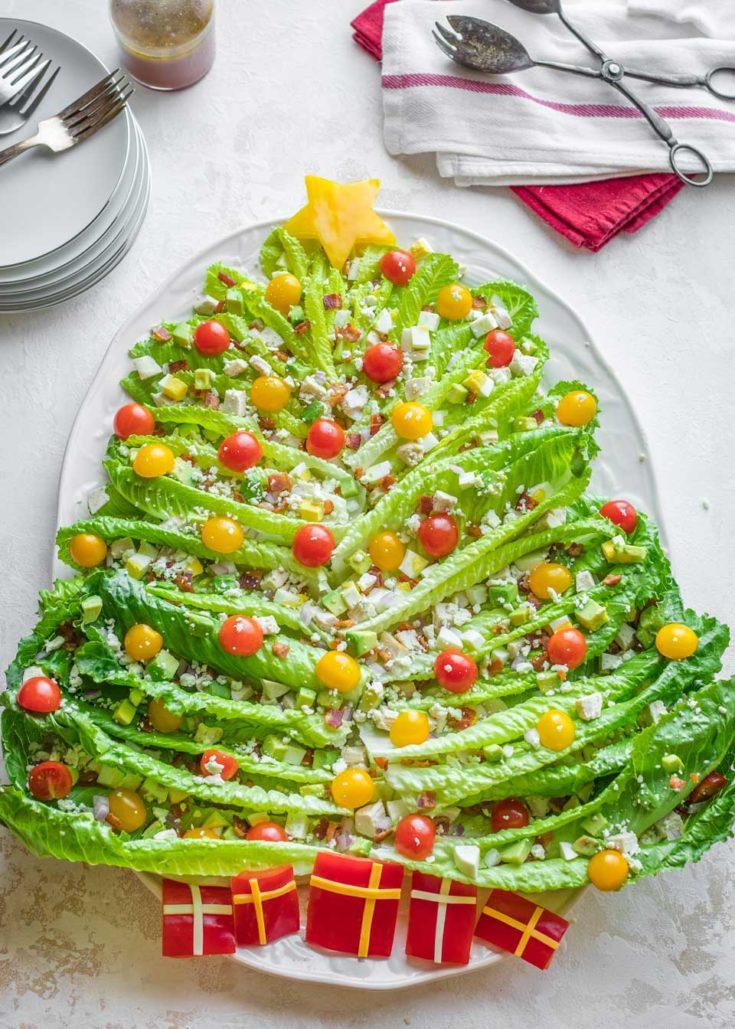 "Chicken Cobb ""Christmas Tree"" Holiday Salad"