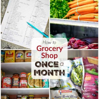 Once-a-Month Grocery Shopping: My 4-Tier, Stock-Up Plan for Healthy Eating