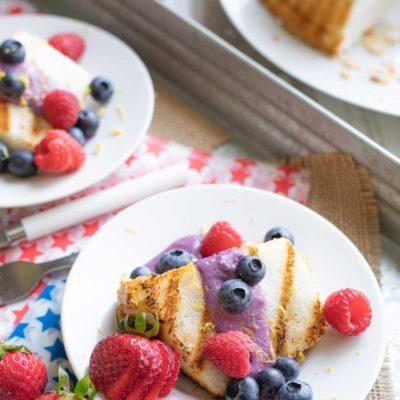 Blueberry-Lemon Angel Food Cake Recipe