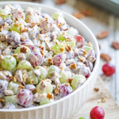 Grape Salad with Cream Cheese-Vanilla Dressing