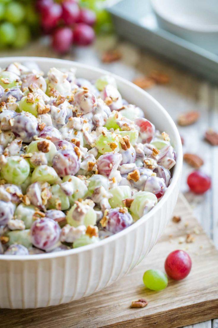 Grape Salad with Vanilla Cream Cheese Dressing