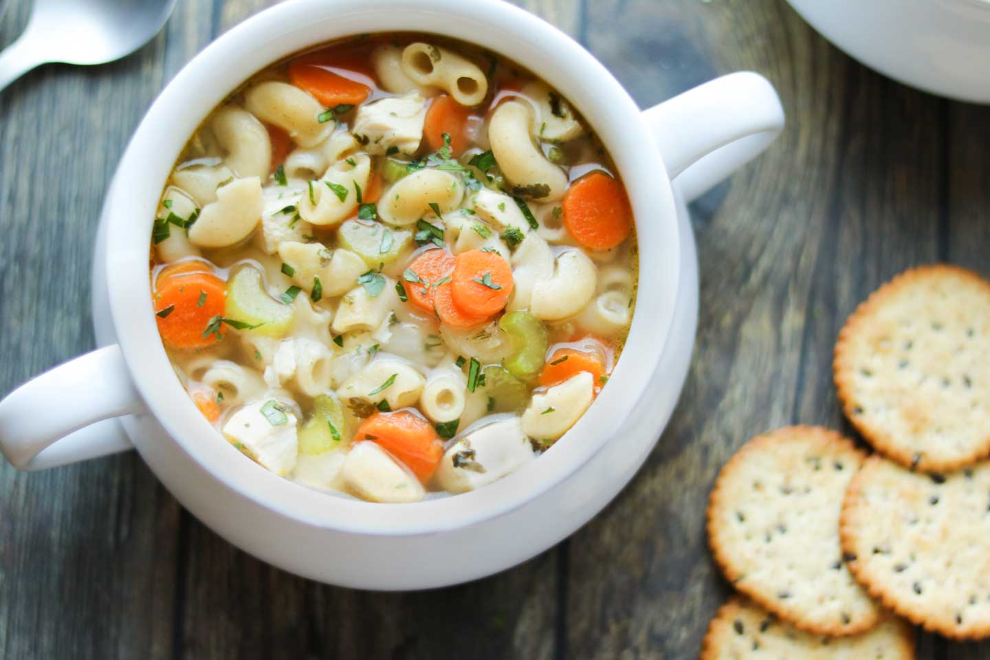 rotisserie chicken noodle soup  easy comforting 30