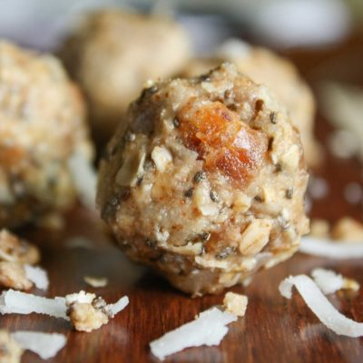 Tropical Date Energy Balls with Chia Seeds