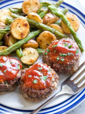 "Meatloaf Muffins ""Old Fashioned"" Mini Meatloaf Recipe"